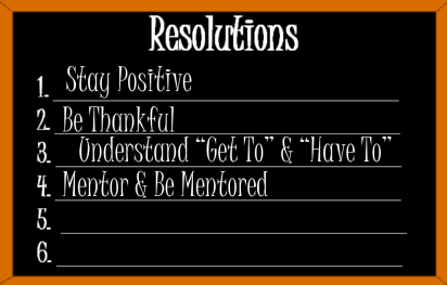 Resolutions Mentor and Be Mentored