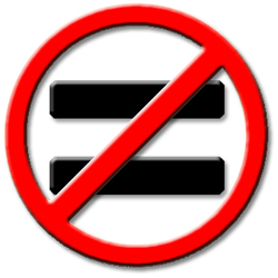 not-equal-sign
